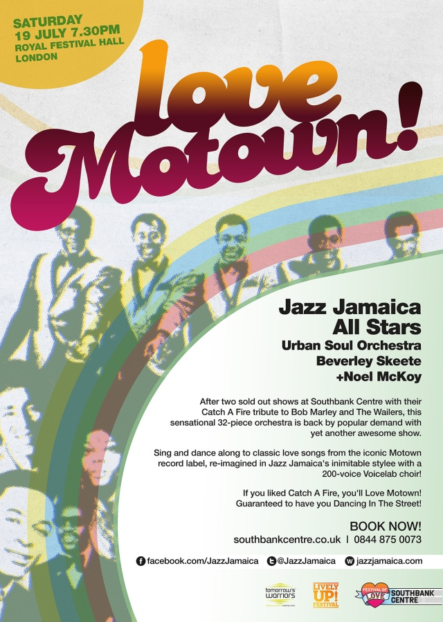 Jazz Jamaica - Love Motown flyer