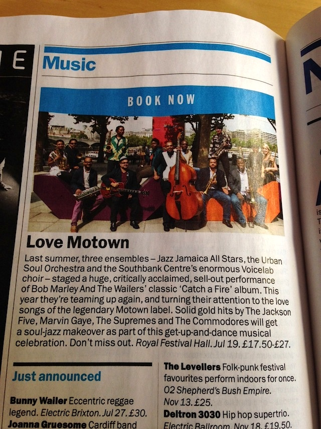TimeOut Love Motown Preview