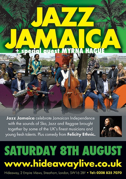 The Hideaway Flyer - Jazz Jamaica 08 Aug